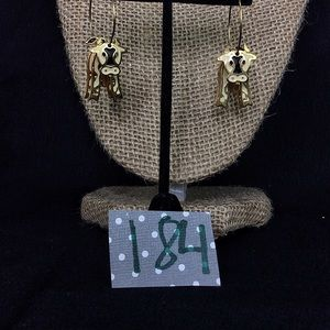 Vintage Edgar Berebi Illusion Cow Earrings